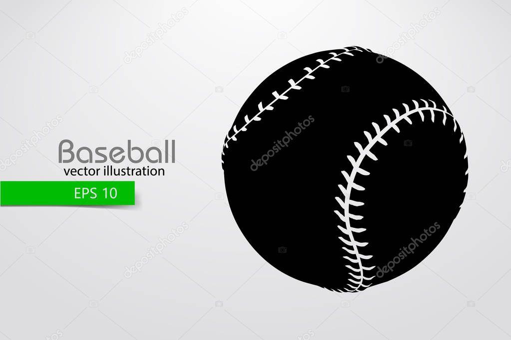 Silueta De Una Pelota De Béisbol. Ilustración De Vector