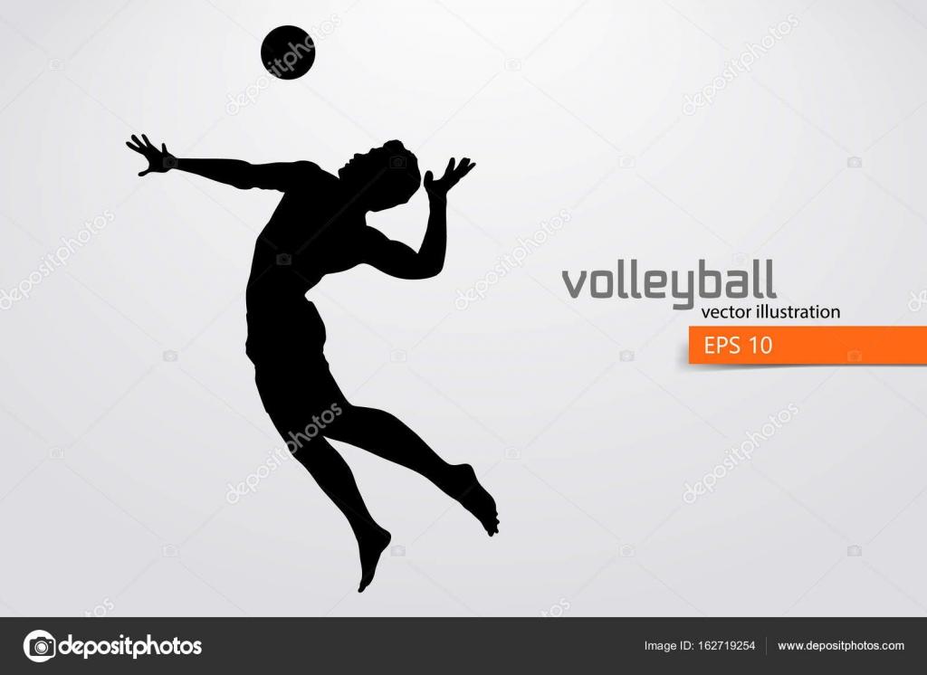 Silueta De Jugador De Voleibol