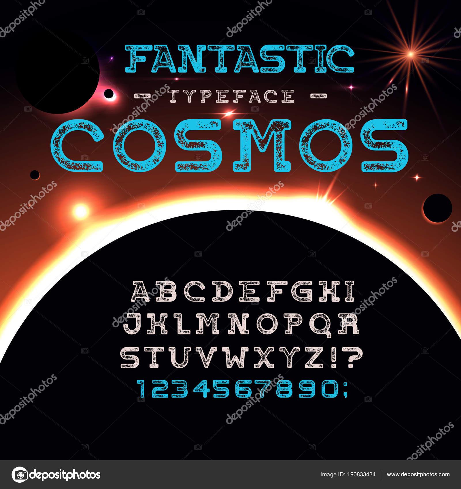 Fantastischen Kosmos Schriftart — Stockvektor © MagicPics #190833434