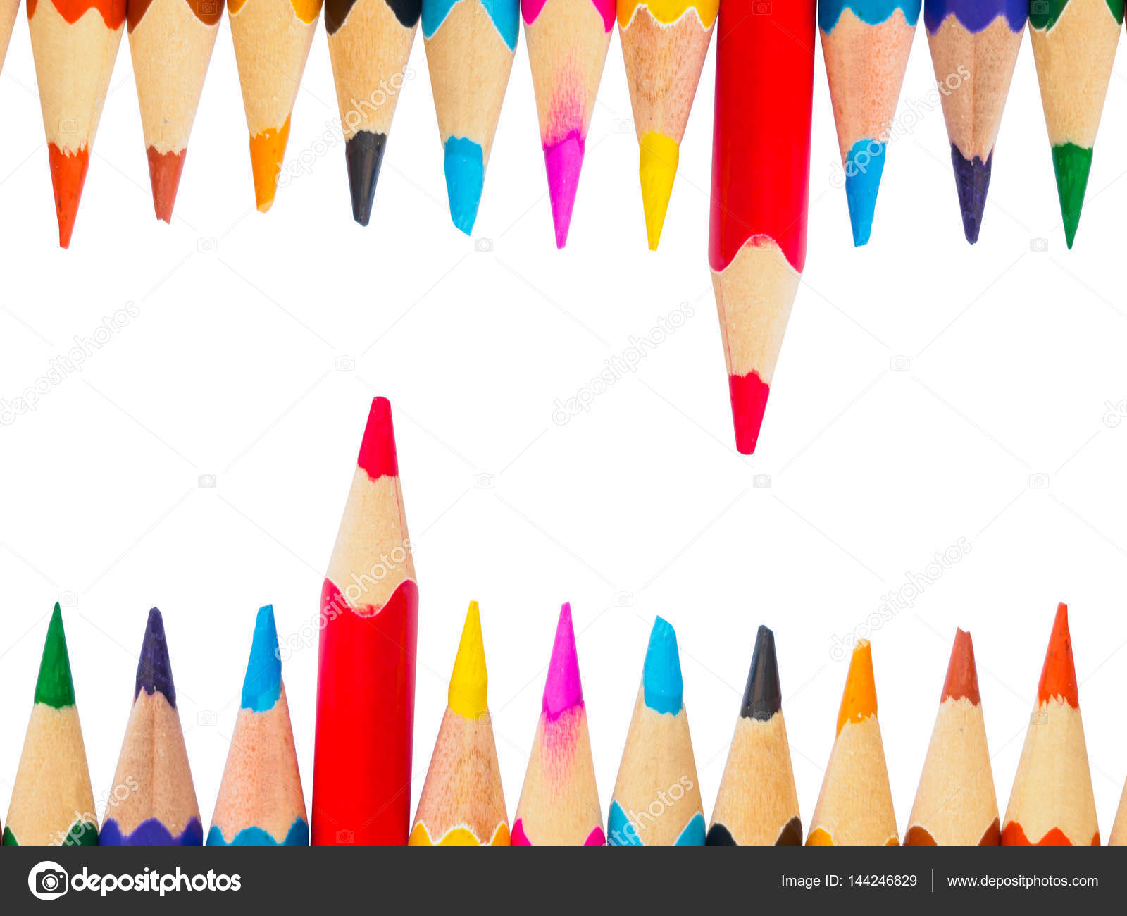 Color Pencils Isolated On White Background Education Material Back To School For Background And Wallpaper Stock Photo C Spukkato 144246829