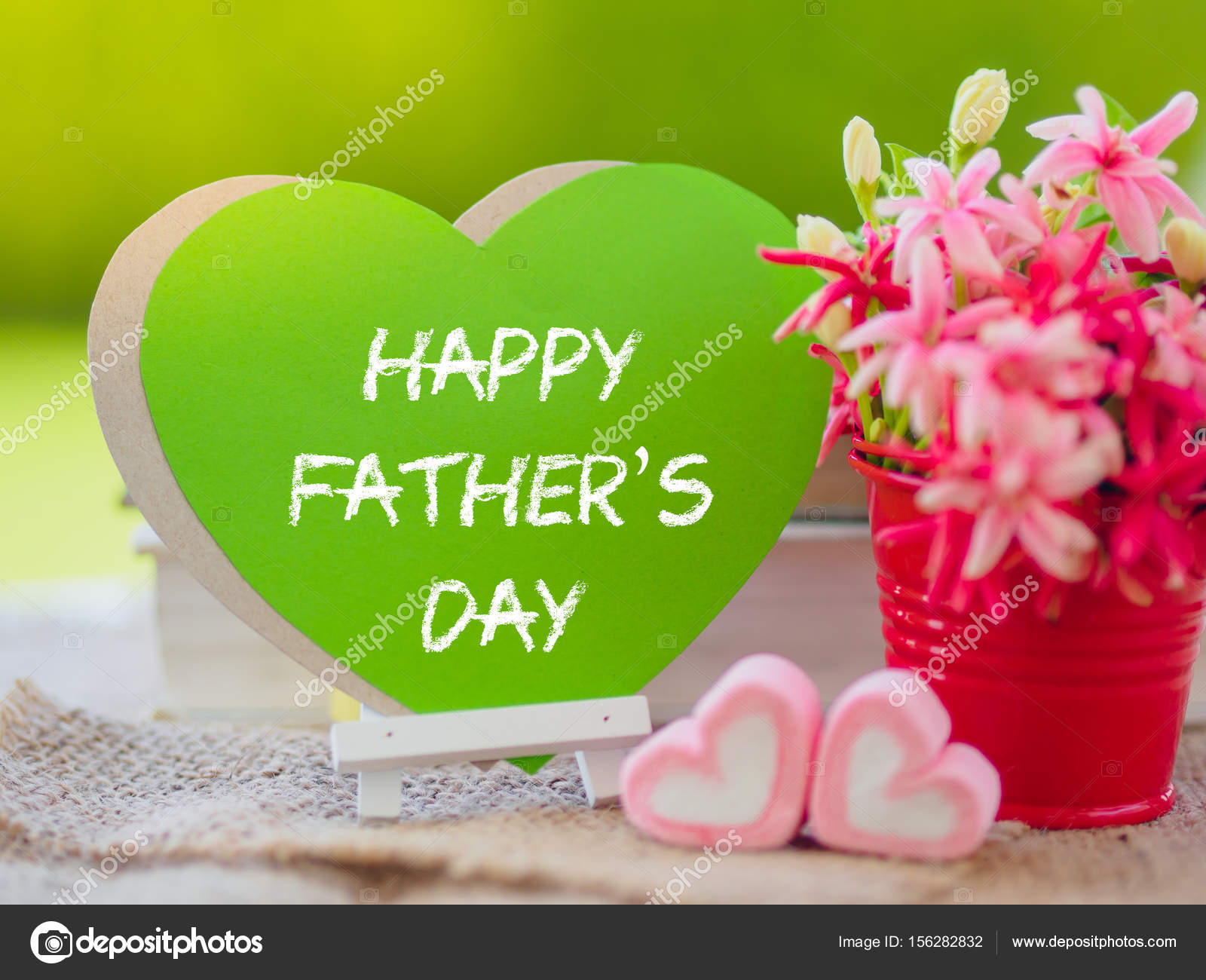 Father\'s day concept. Poster mock up template with flower bouquet ...