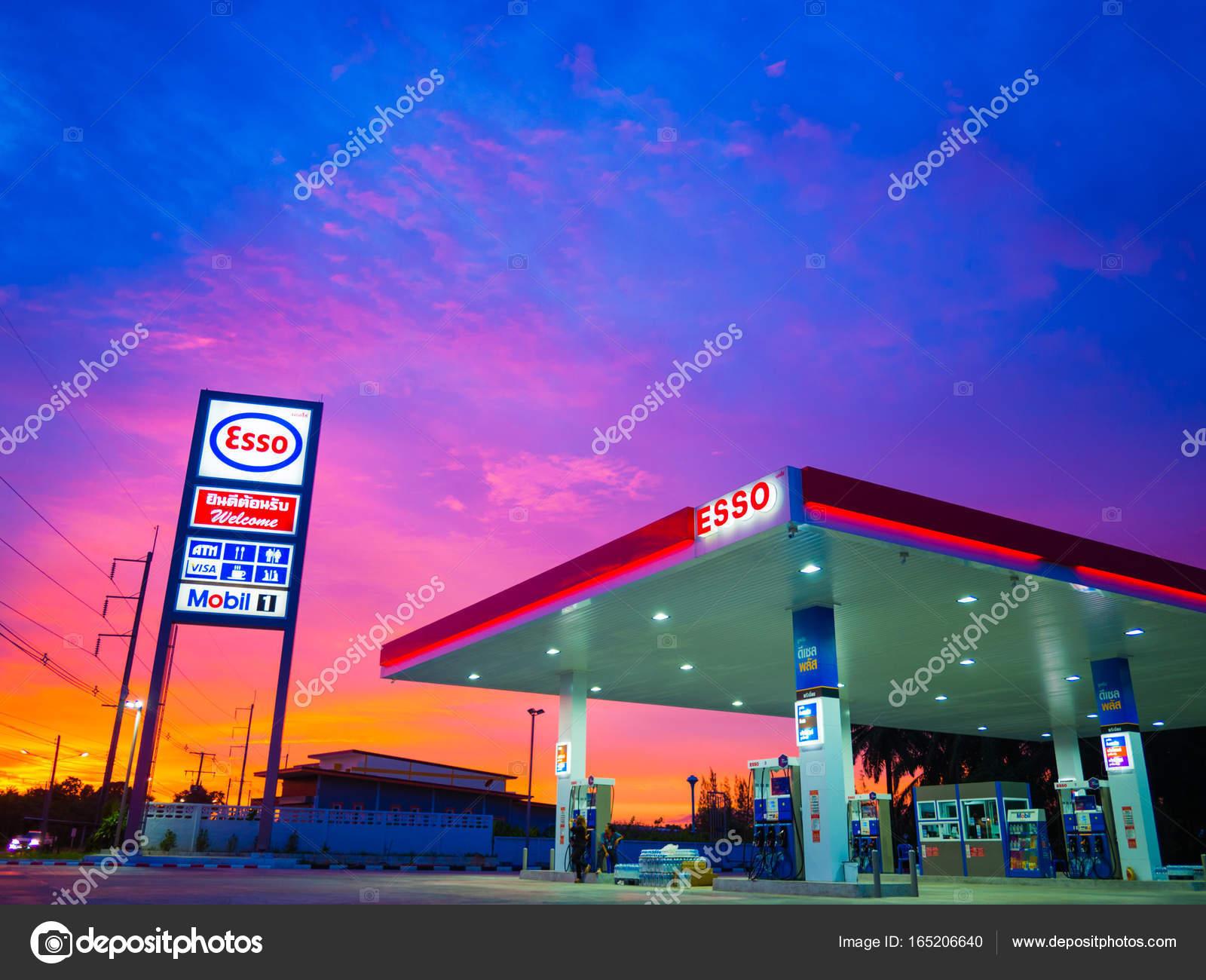 Krabi, Thailand - September 1, 2017: ESSO gas station. Esso gas ...