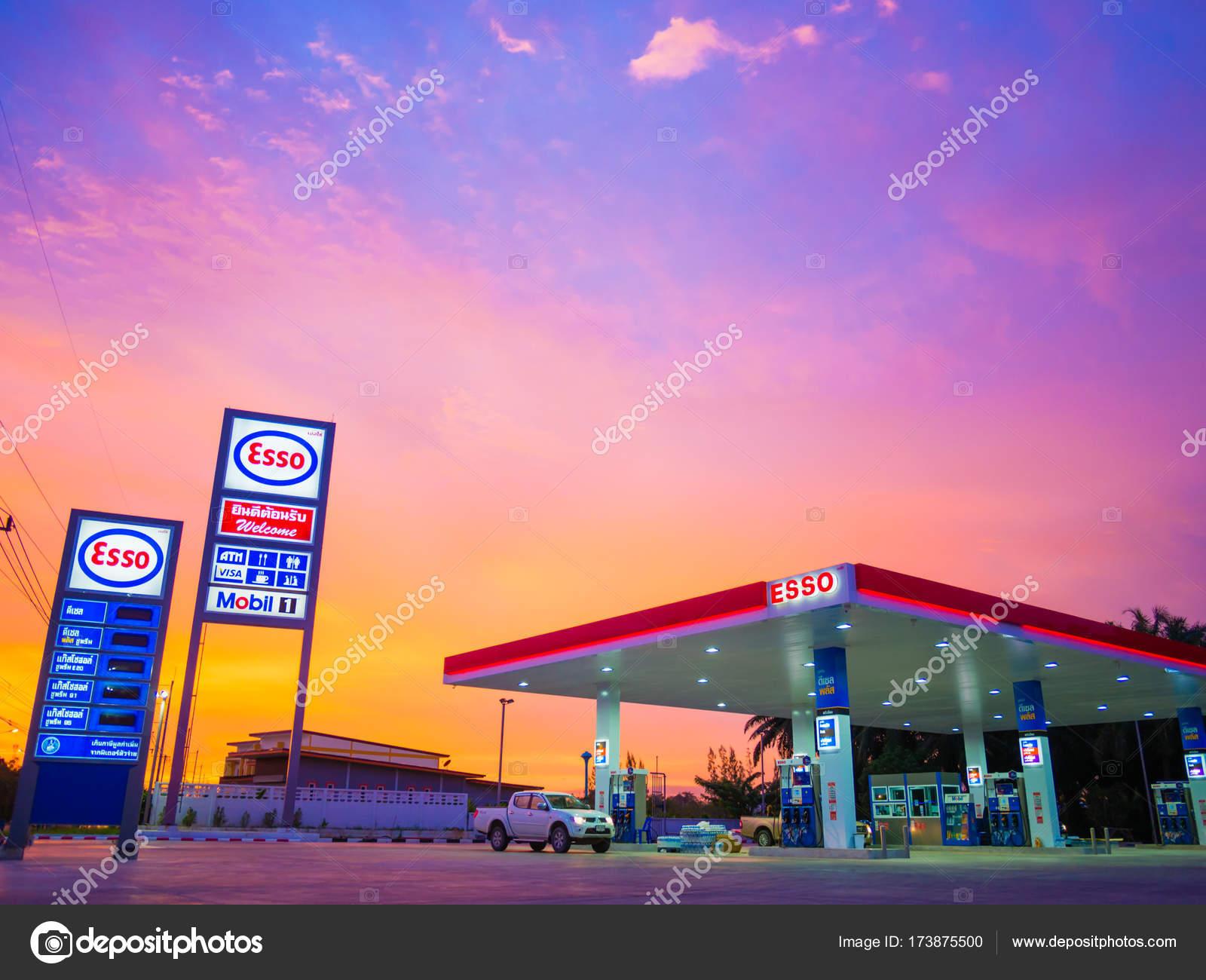 ESSO gas station. – Stock Editorial Photo © spukkato #173875500