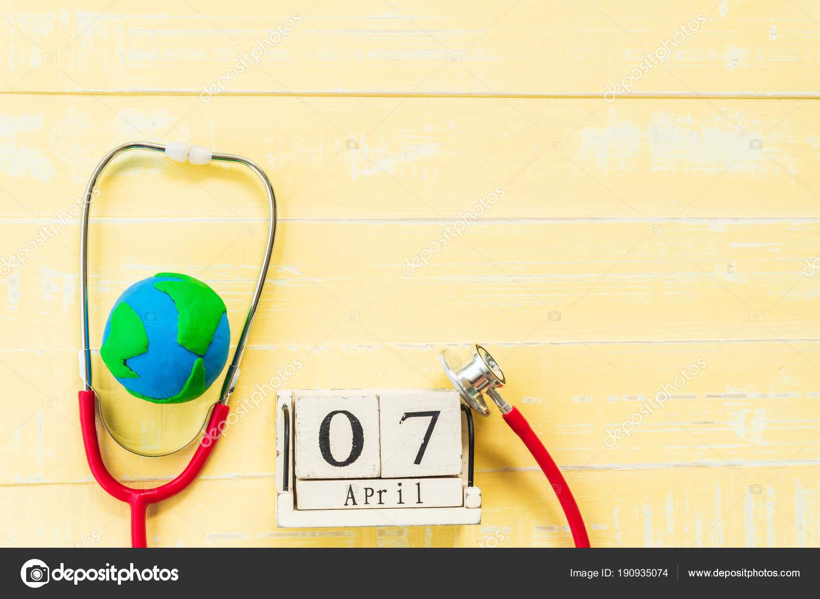 Calendario Della Salute.Calendario Di Blocco Di Legno Per La Giornata Mondiale Della