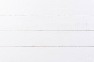 Top view of white  wooden texture background with space.
