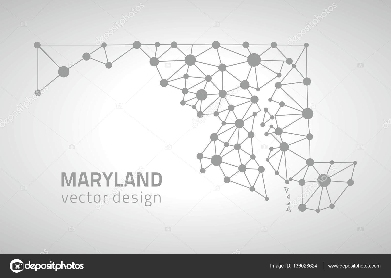 Maryland vector grey modern contour polygonal perspective triangle