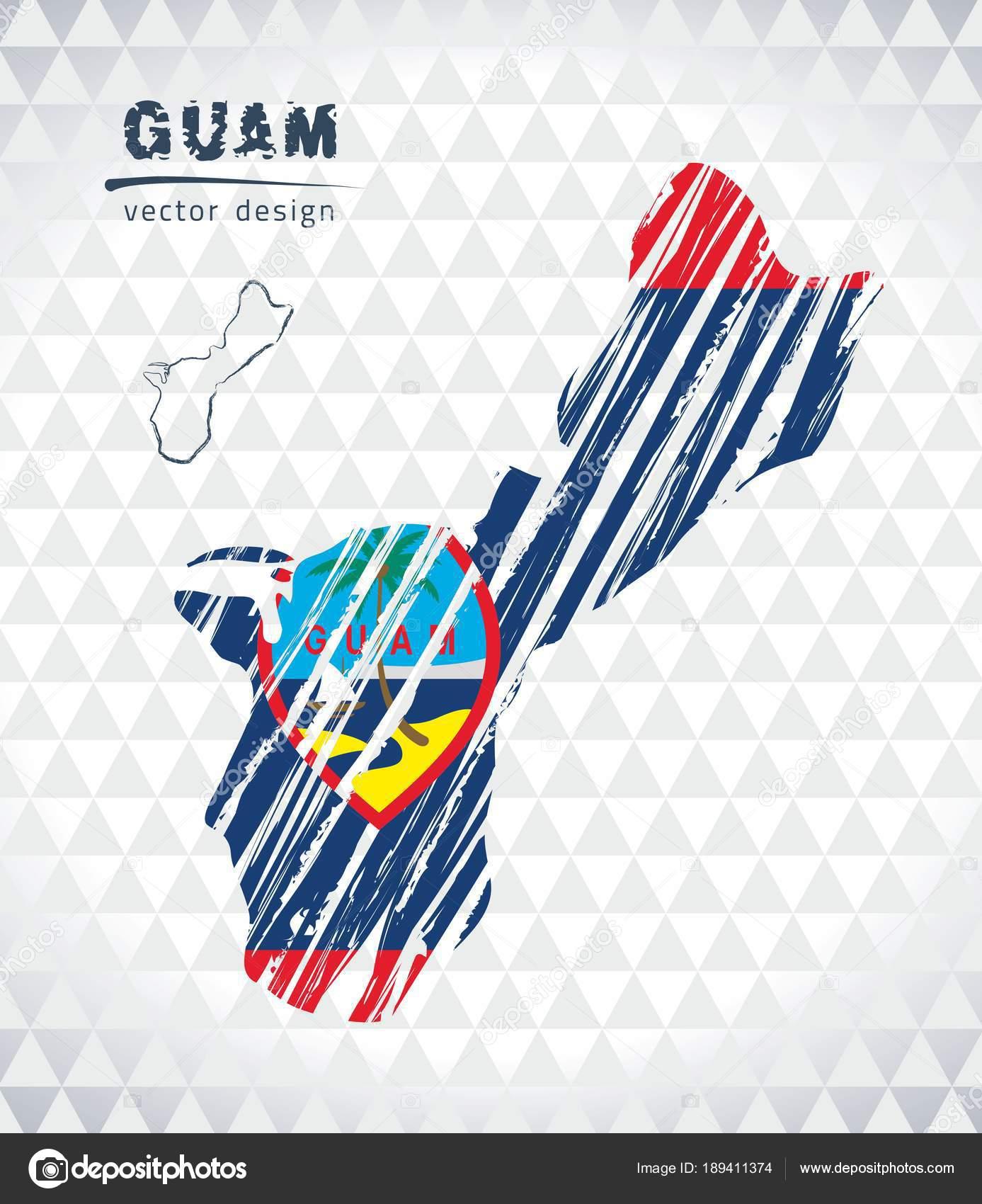 Map Guam Hand Drawn Sketch Pen Map Vector Illustration — Stock ...