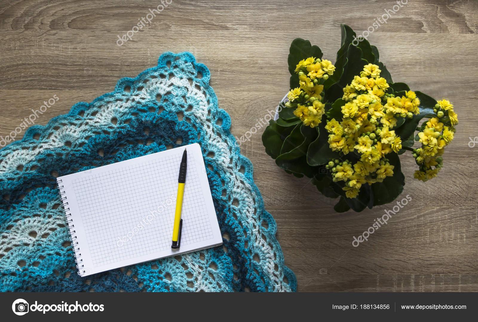 Hintergrund Baum gelbe Blume Blau Kalandi Schnitt färben Schal ...