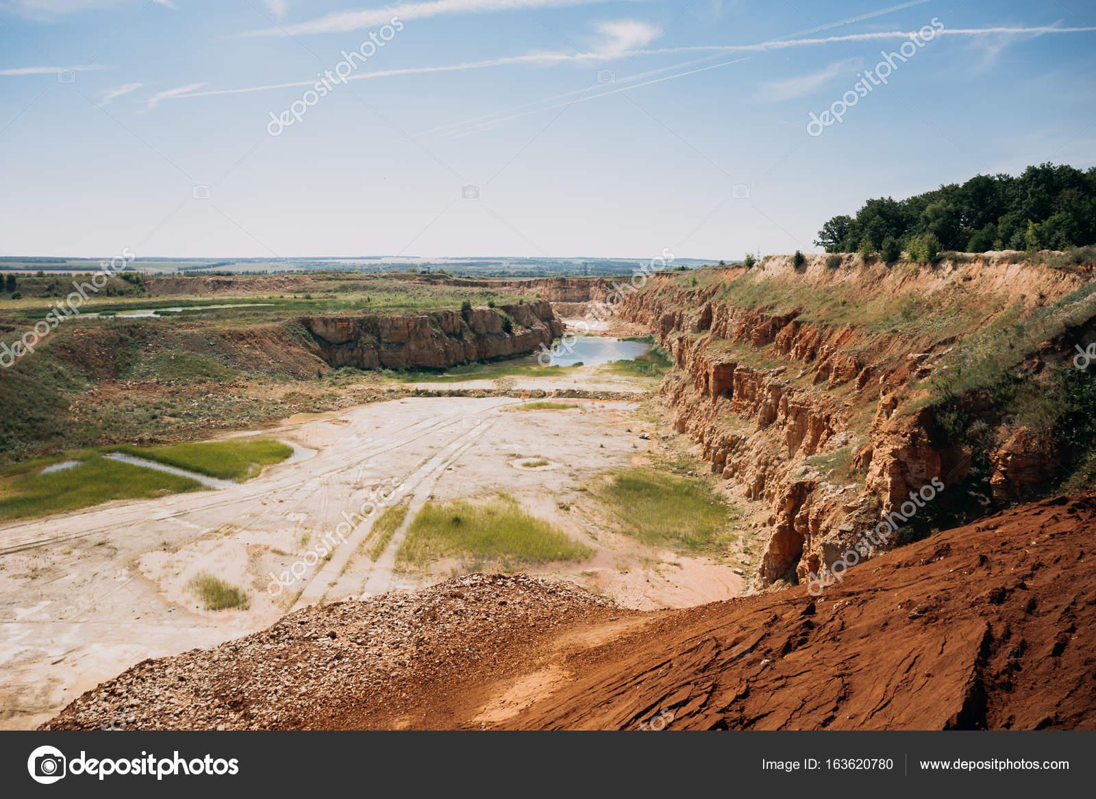 Quarry landscape, limestone mining — Stock Photo © DedMityay