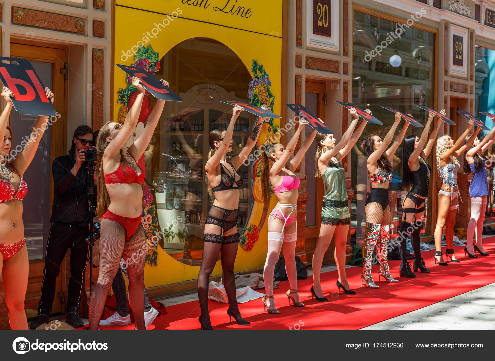 Saint Petersburg, Russia - Circa June 2017: Group of girls