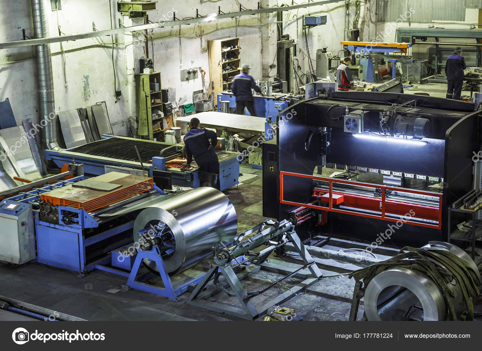 industrial workshop or hangar on production of ventilation systems