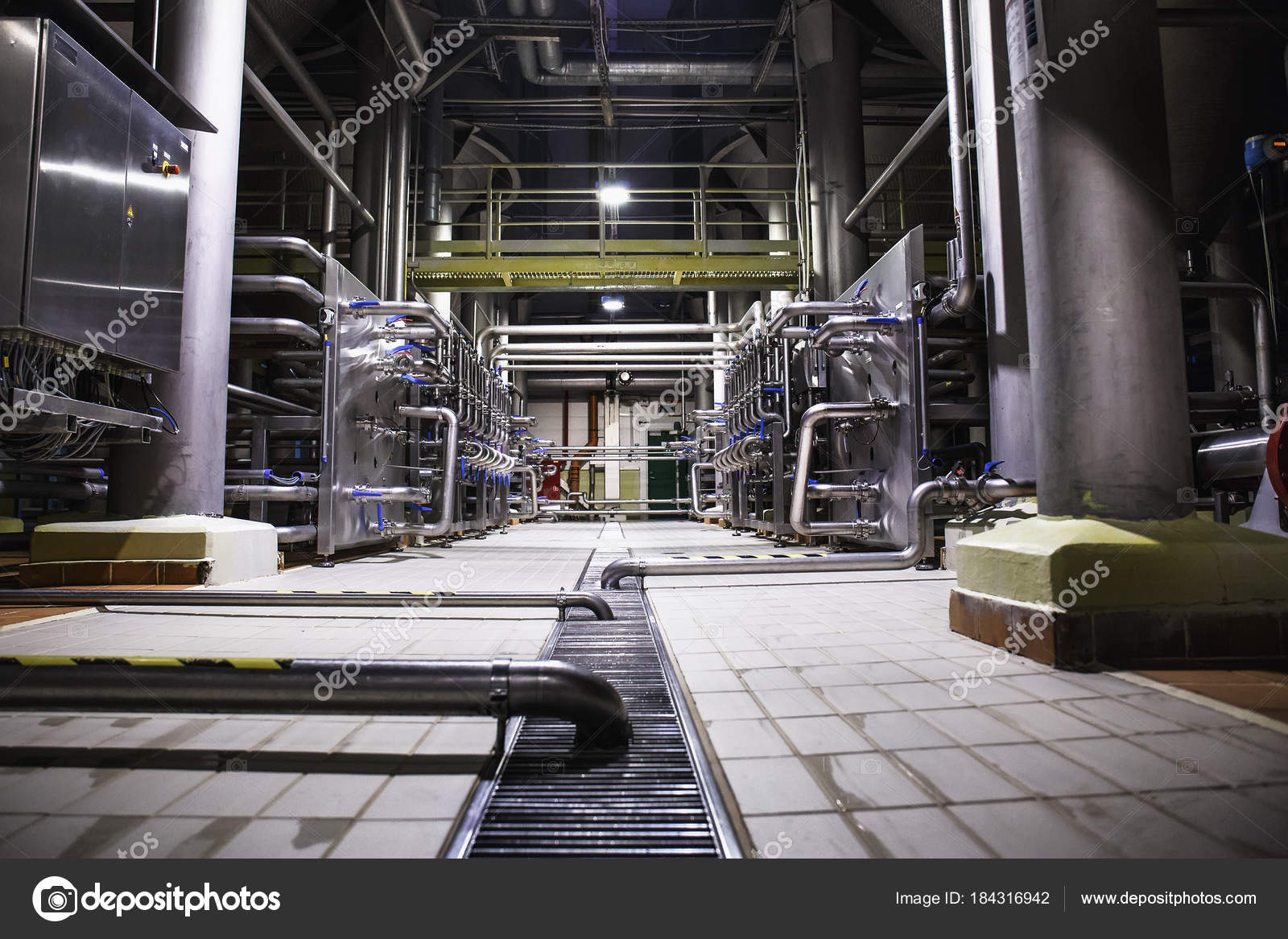 Modern Beer Factory, Brewery Concept. Steel Tanks And Pipes For Beer  Production. Industrial Background U2014 Photo By DedMityay