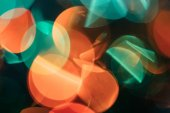 Party abstract bokeh light background, blurred round festive circles