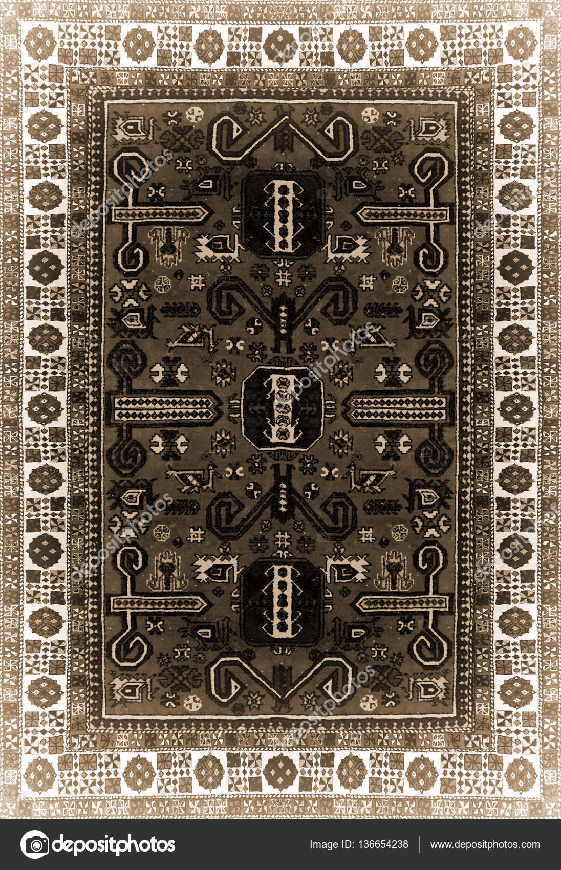 Texture De Tapis Persan Ornement Abstrait Modèle De Mandala Rond