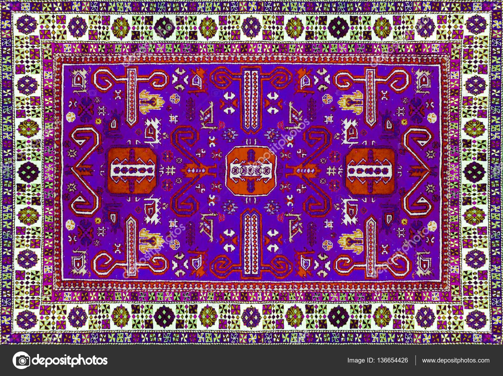 Texture de tapis persan, ornement abstrait. Modèle de mandala rond ...