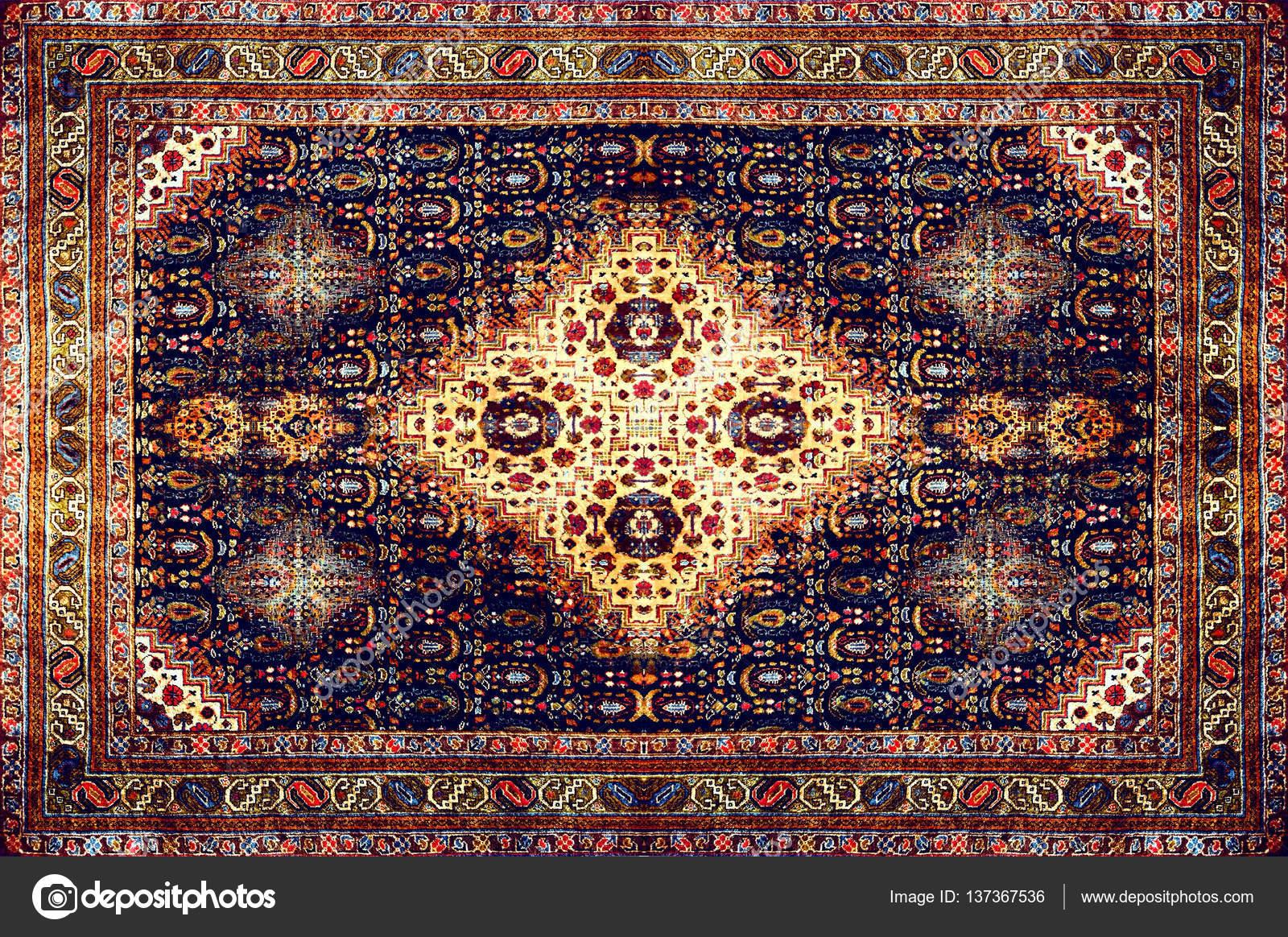 Texture de tapis persan, ornement abstrait. Modèle de mandala ...