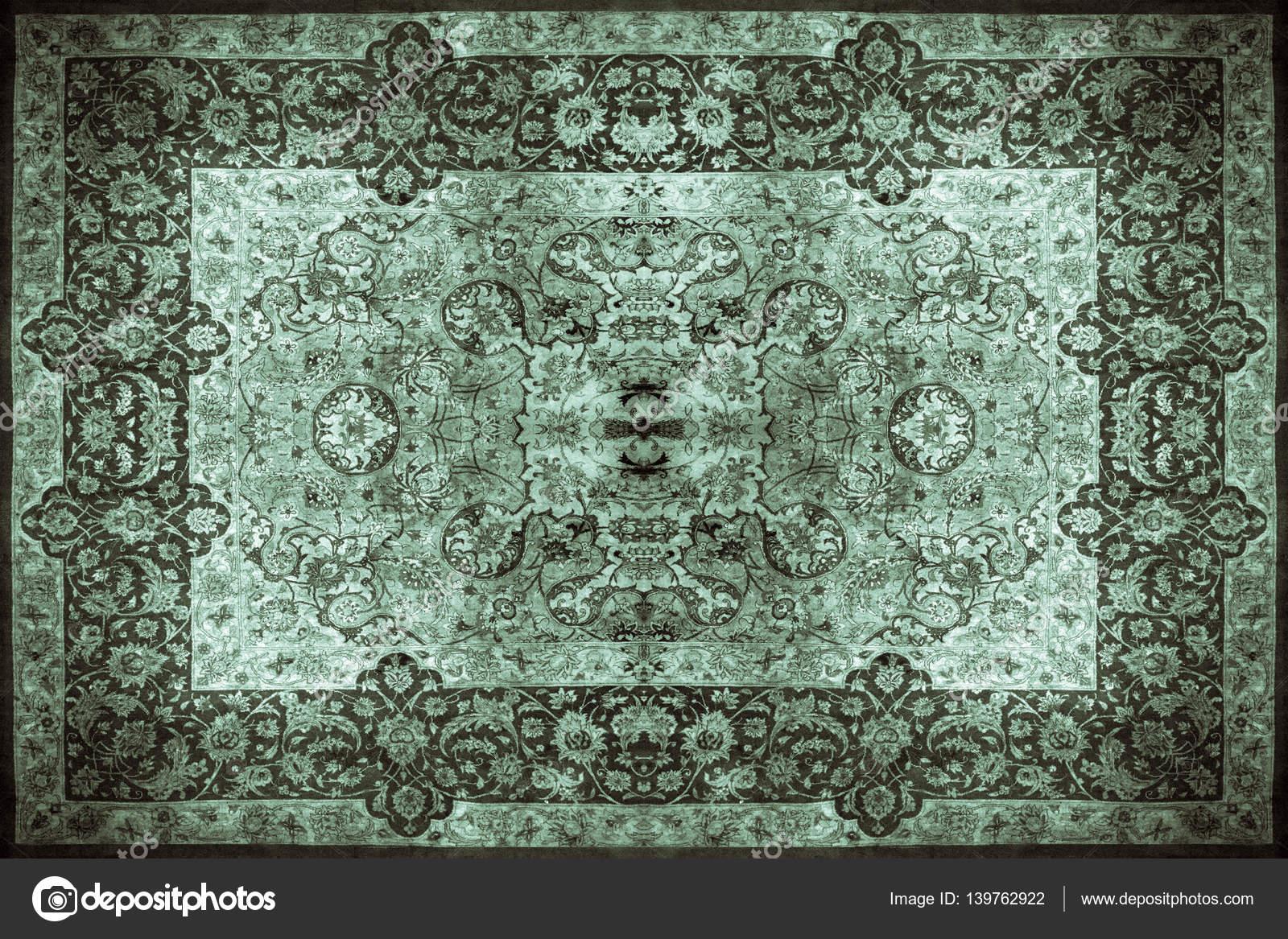 Perzisch Tapijt Blauw : Perzisch tapijt textuur abstract ornament. ronde mandala patroon