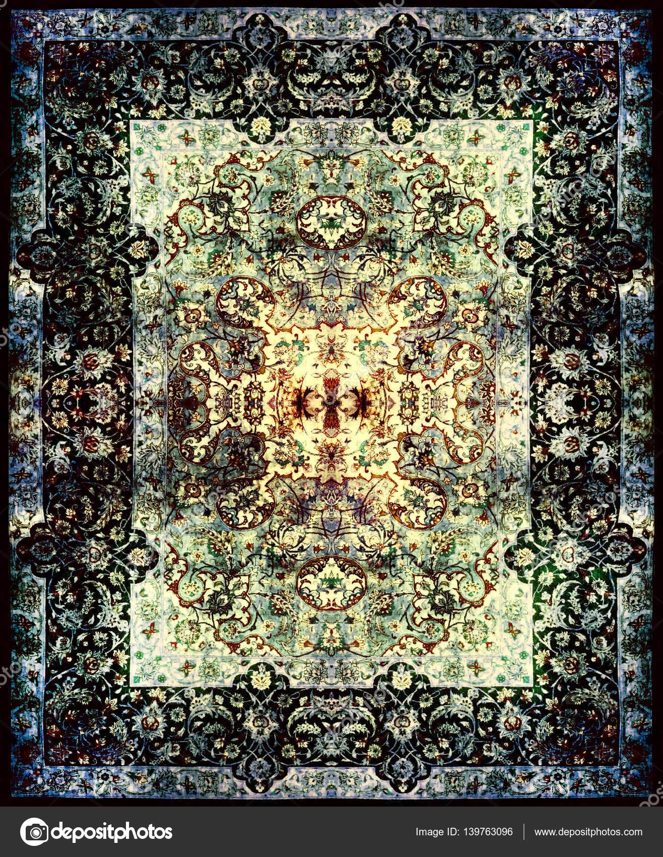 Persische Teppich Textur, abstrakten Ornament. Runde Mandala-Muster ...