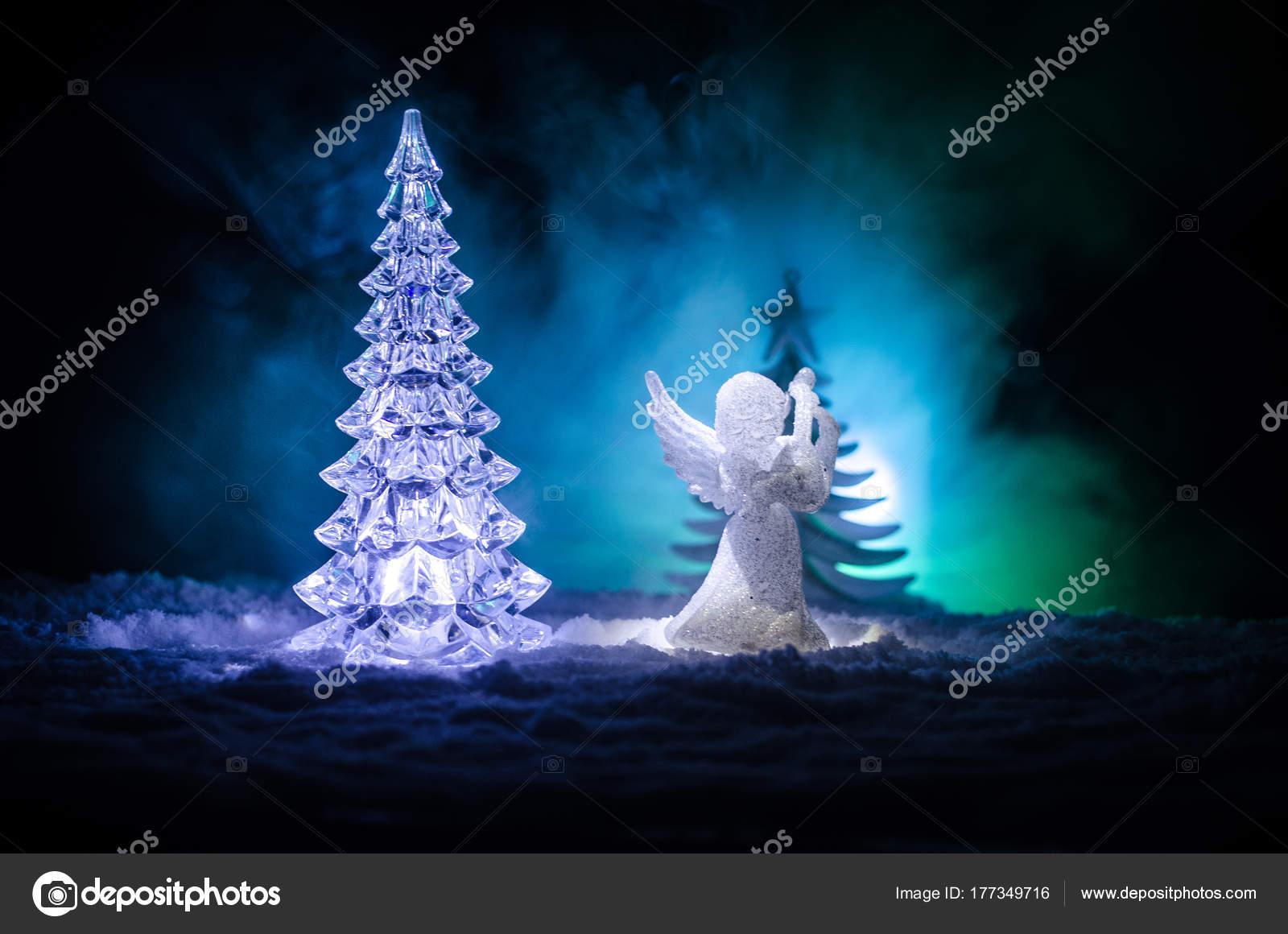 Xmas Deko Weihnachtsbaum.Weihnachtsengel Glas Xmas Figur Und Glas Tannenbaum Weihnachtsbaum