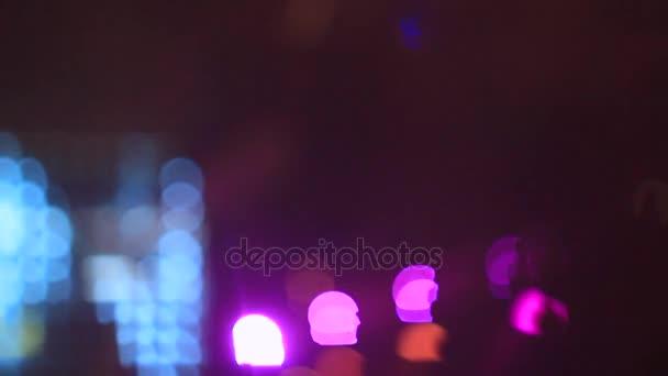 spotlight on the concert defocusing