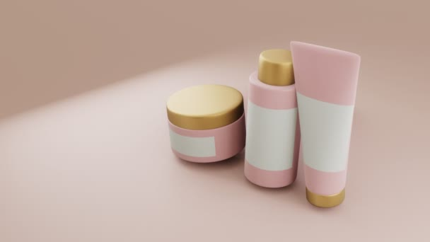 3D visualization of a set of cosmetics