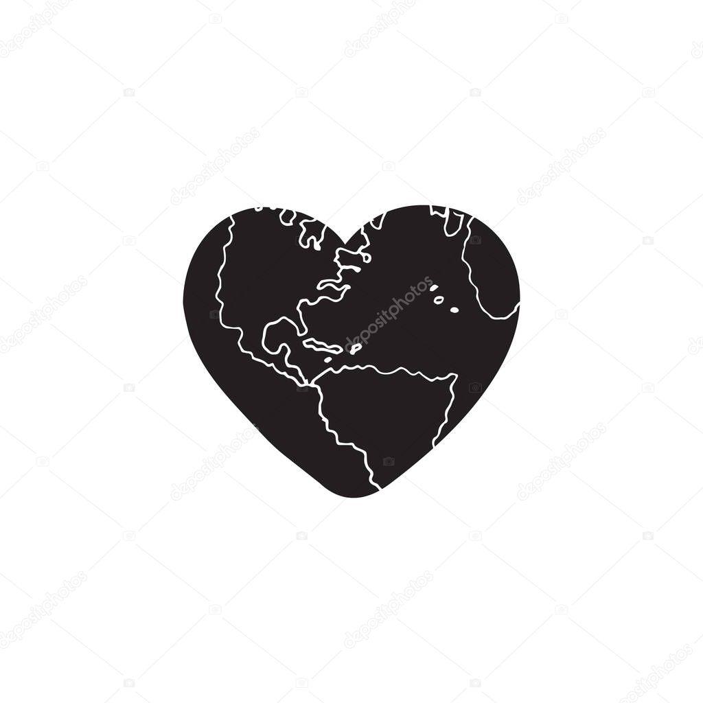Heart shape icon vector illustration icon