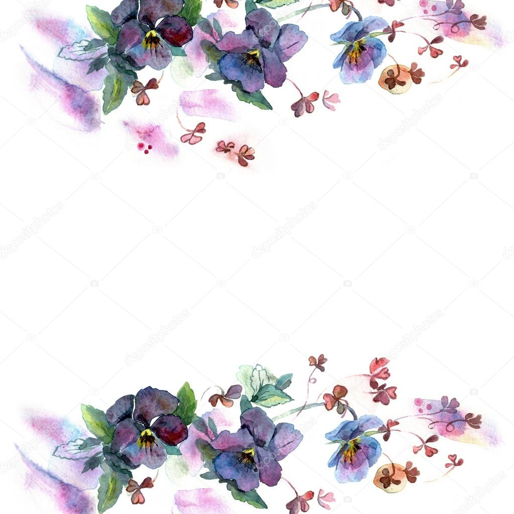 Cute Watercolor Flower Frame Stock Photo 169 Efremova