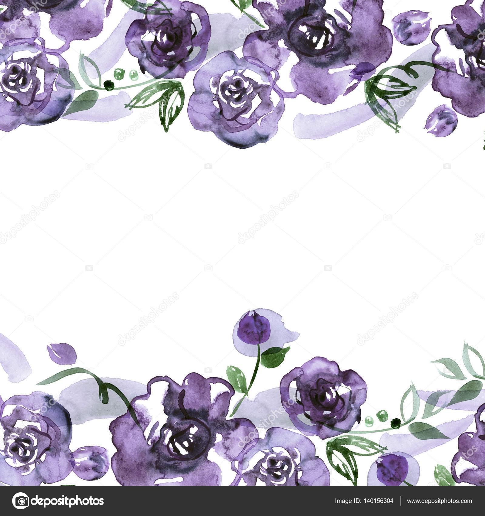 Marco de flor Linda acuarela — Foto de stock © efremova_farm.mail.ru ...