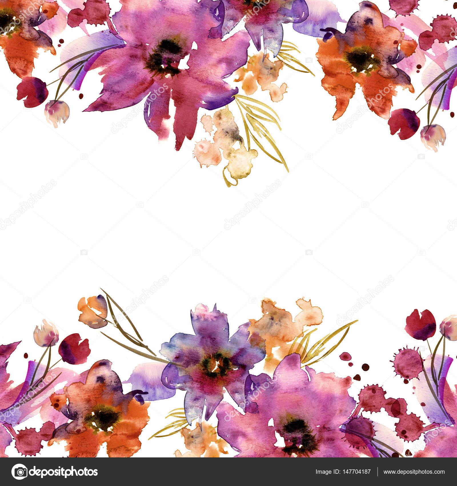 Marco de flor Linda acuarela. Mano — Fotos de Stock © efremova_farm ...