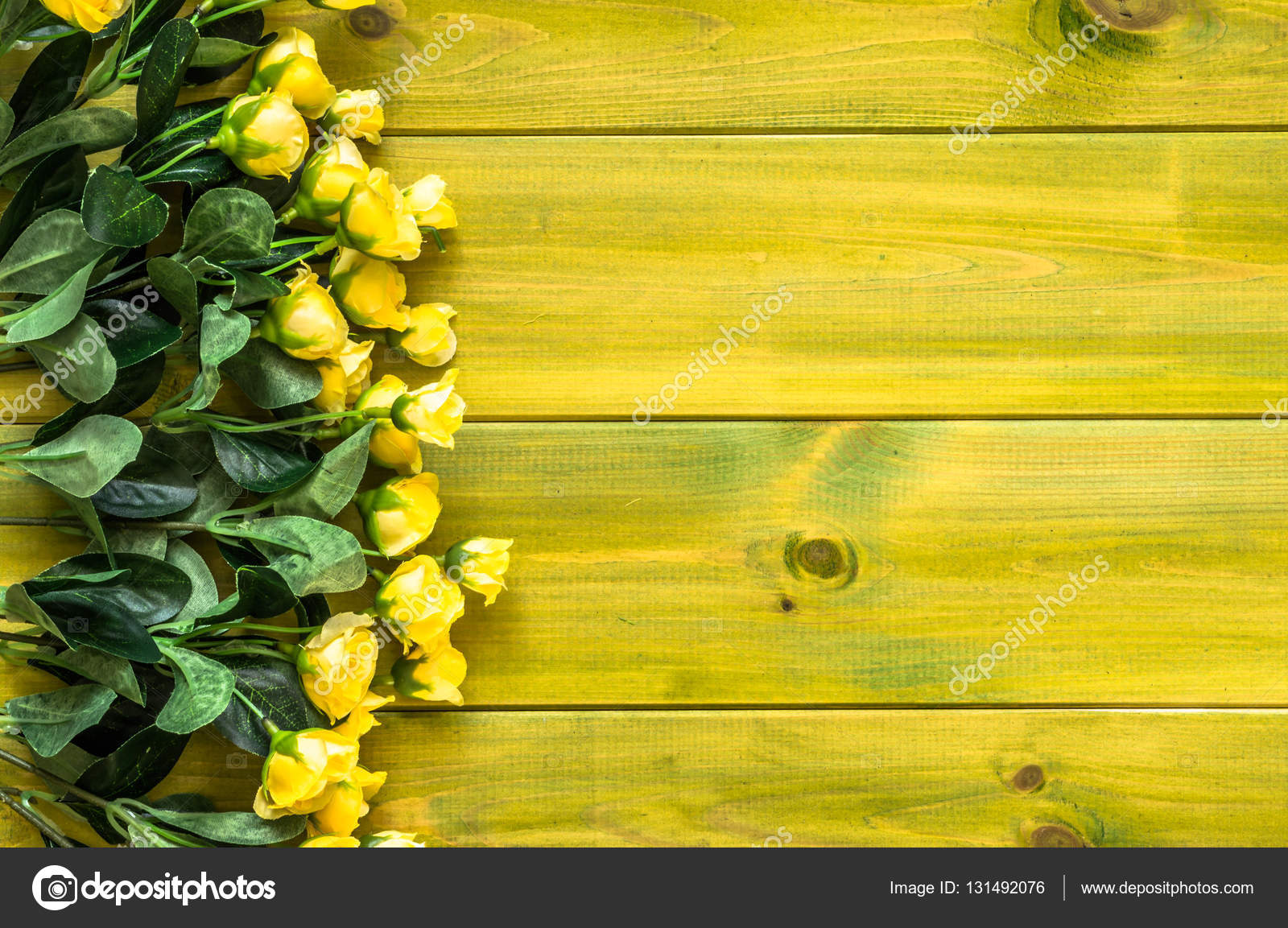 Yellow roses on wooden background flowers frame for valentine card yellow roses on wooden background flowers frame for valentine card or wedding invitation template stopboris Image collections