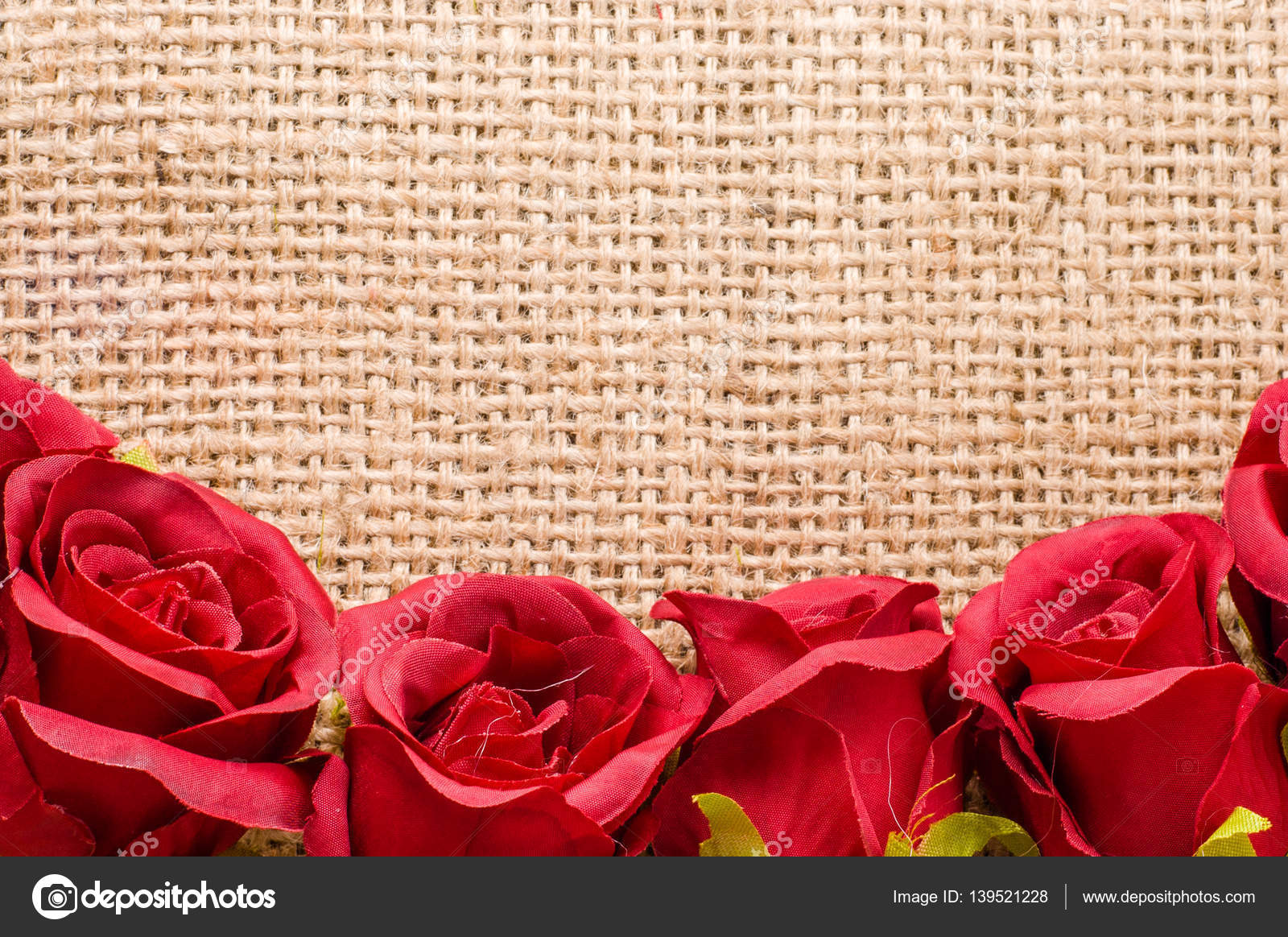 Red roses on rustic background, wedding invitation, women\'s day ...