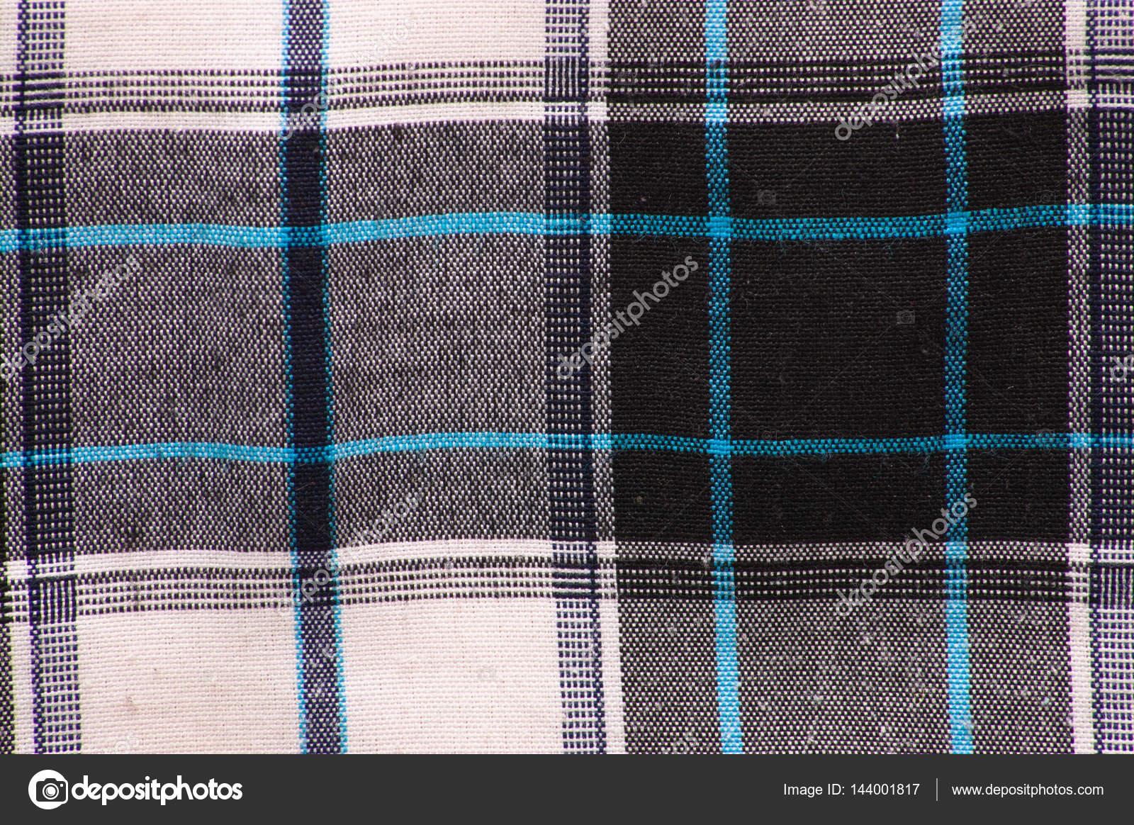 Texture Textile Blanc Noir De La Chemise à Carreaux Utile