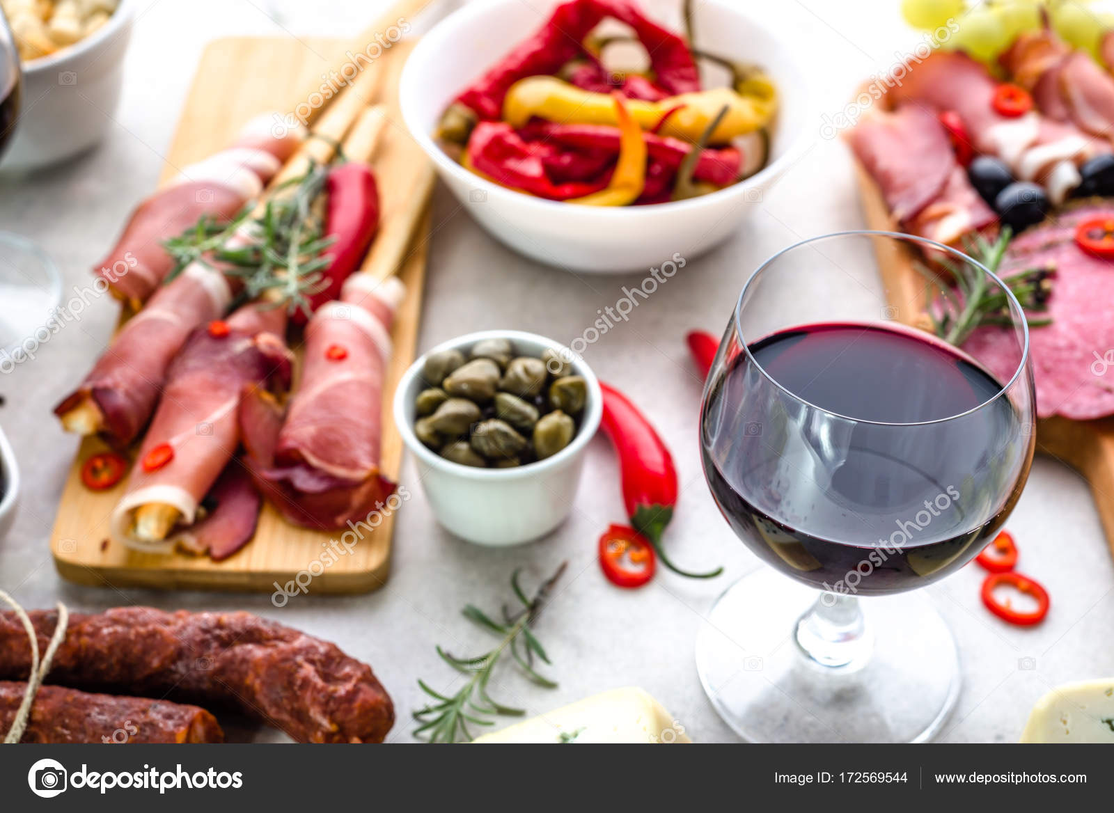 Traditional spanish tapas bar or wine snack set on table food selection appetizers of & Traditional spanish tapas bar or wine snack set on table food ...