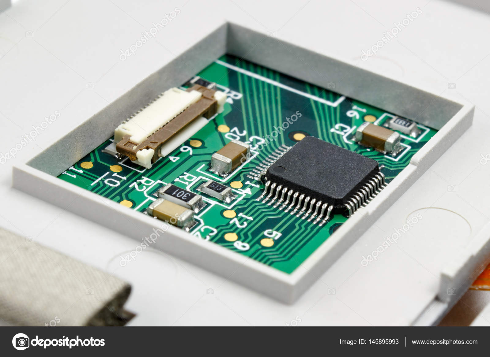 Circuit Board With Installed Electronic Components In The Housing Stockfoto Printed Pcb Used Industrial Photo By Bonekot