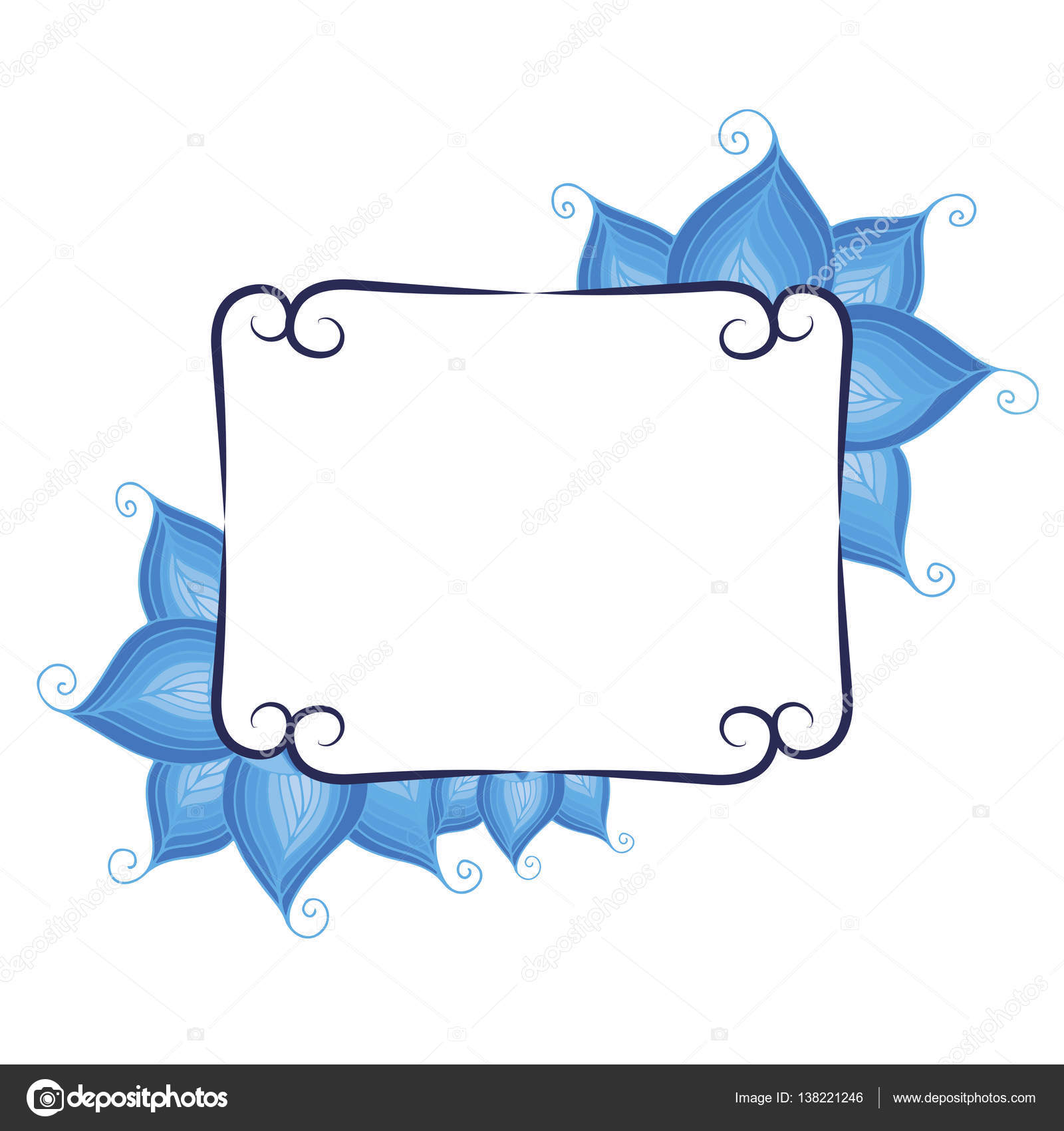 Cadre pour votre texte avec fond floral. Carte de voeux, invitation, bannière. Illustration ...