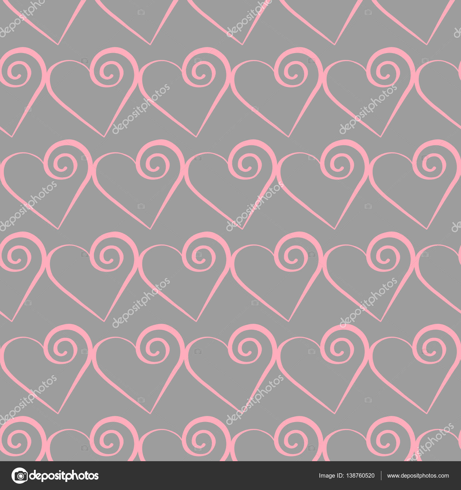 romantische rosa herz muster vektor illustration f r ferien design viele fliegende herzen auf. Black Bedroom Furniture Sets. Home Design Ideas