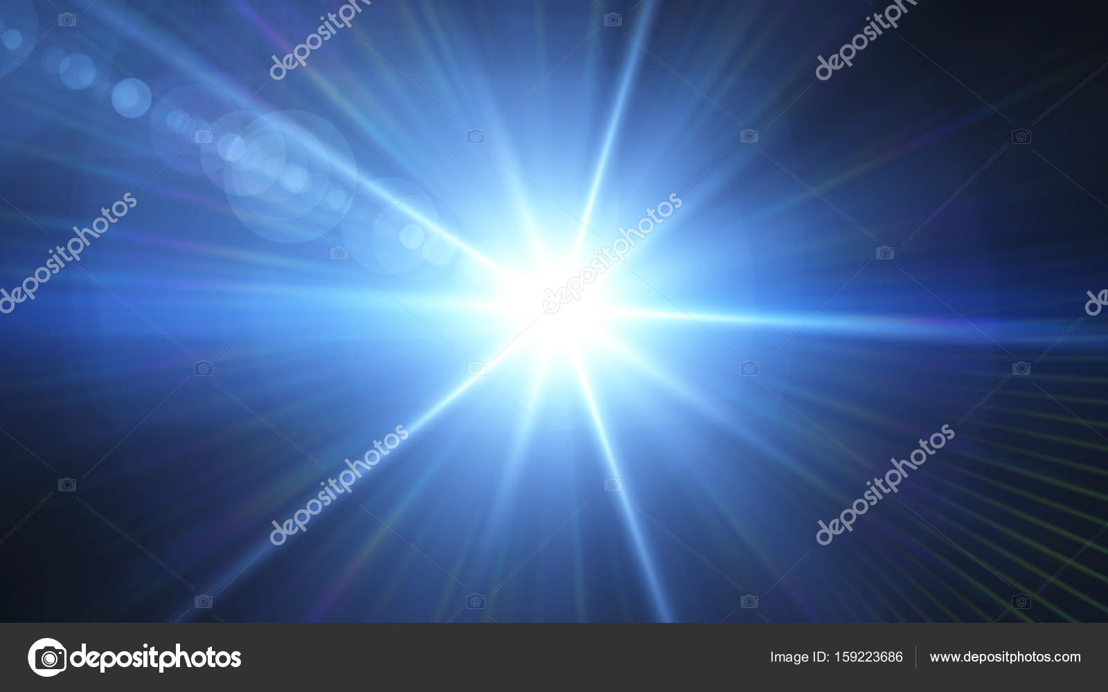 Besondere Len digital fackeln besondere lichteffekte auf schwarzem hintergrund