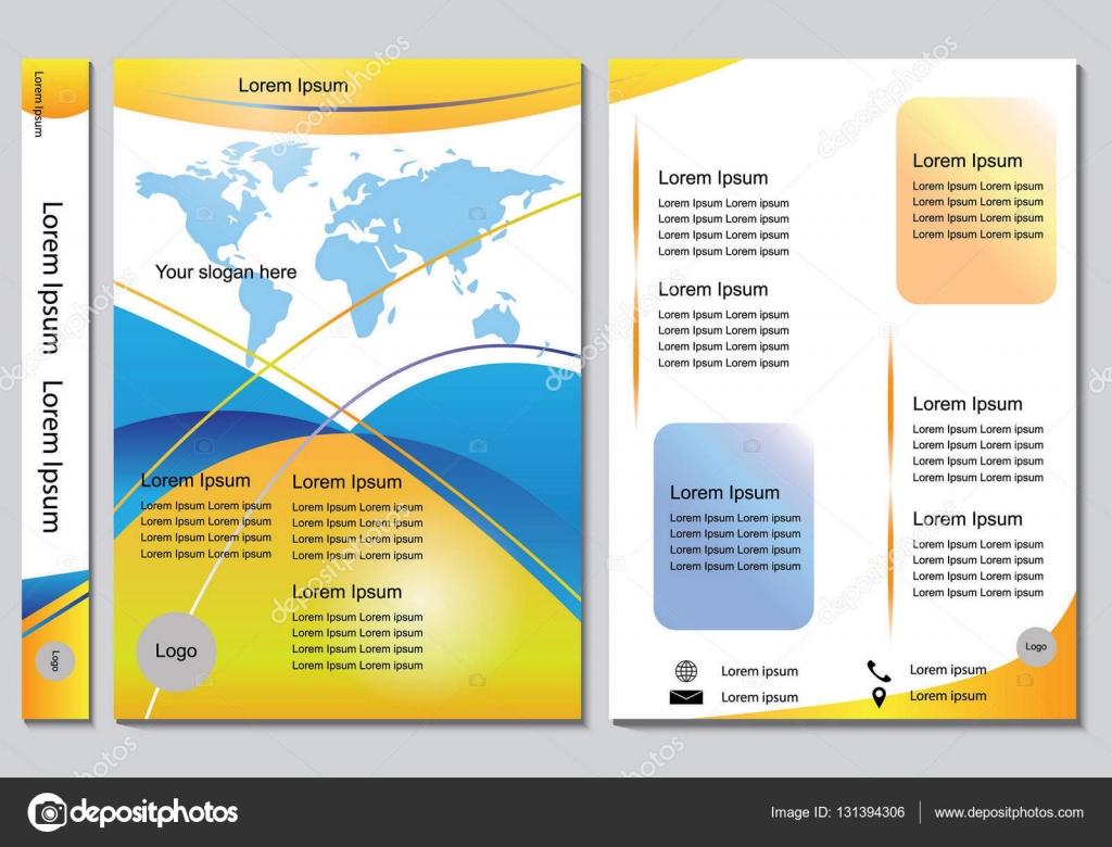 Broschüre Design Vorlage Vektor. Flyer berichten Unternehmen ...