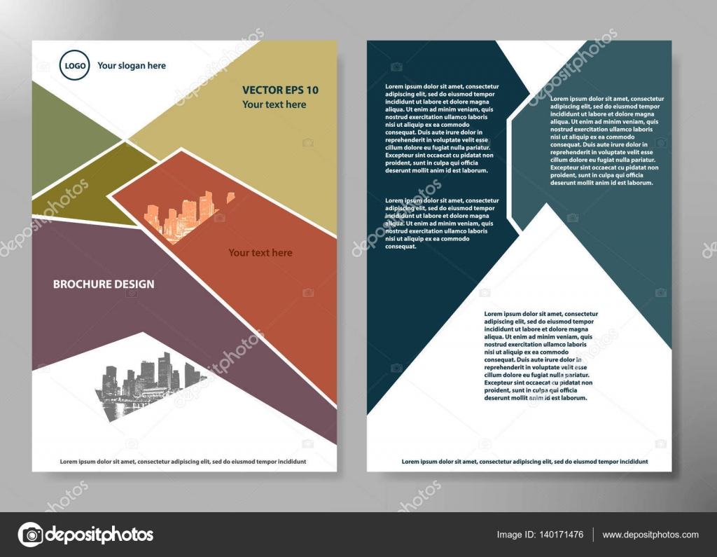 Portfolio Design Template Vector Minimal Brochure Report