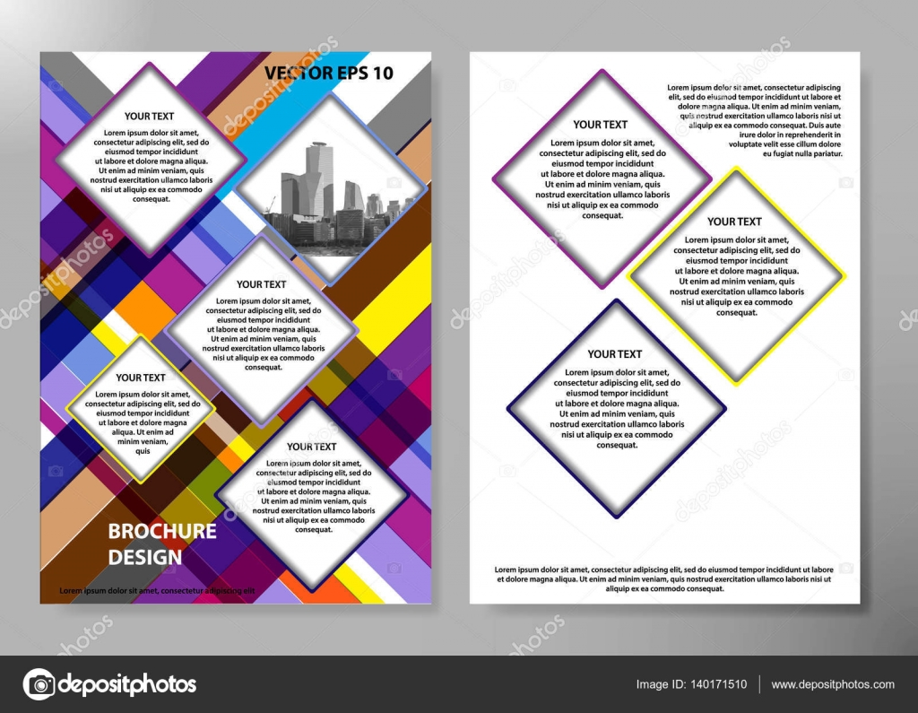 Stock Illustration Portfolio Design Template Vector Minimal Brochure Report Business Flyers Magazine Poster Abstract Color Cover