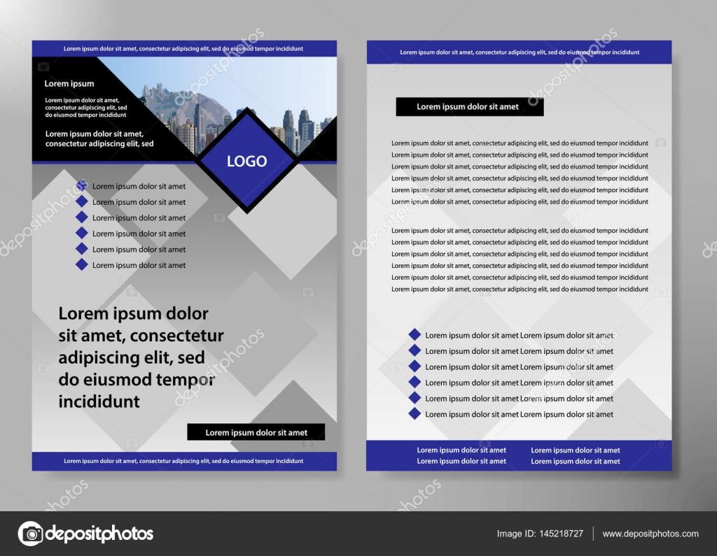 Flyer Abdeckung Business Broschüre Vektor-Design, Broschüre Werbung ...