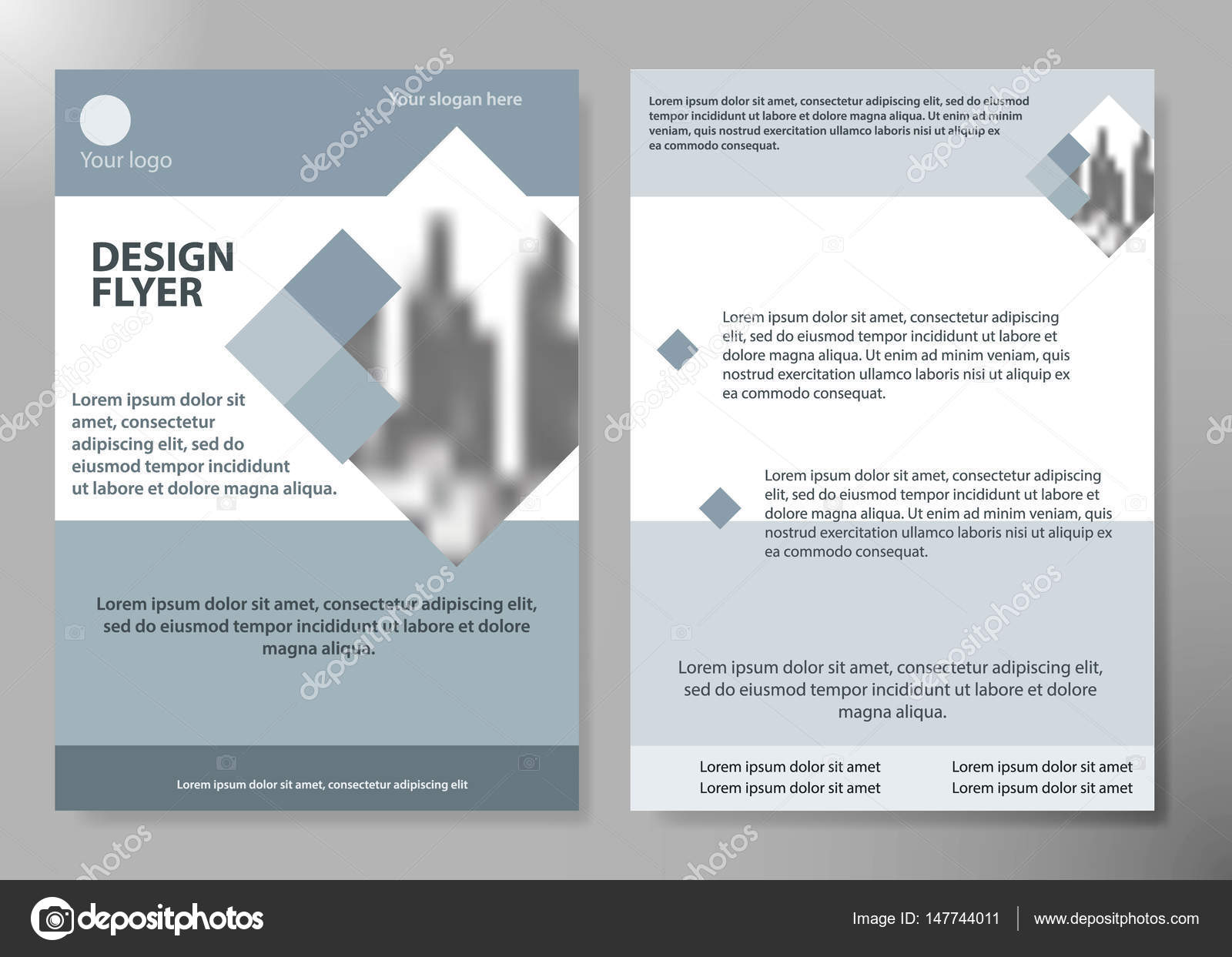Minimale Flyer Bericht Business Magazin Plakat Layout Portfolio ...