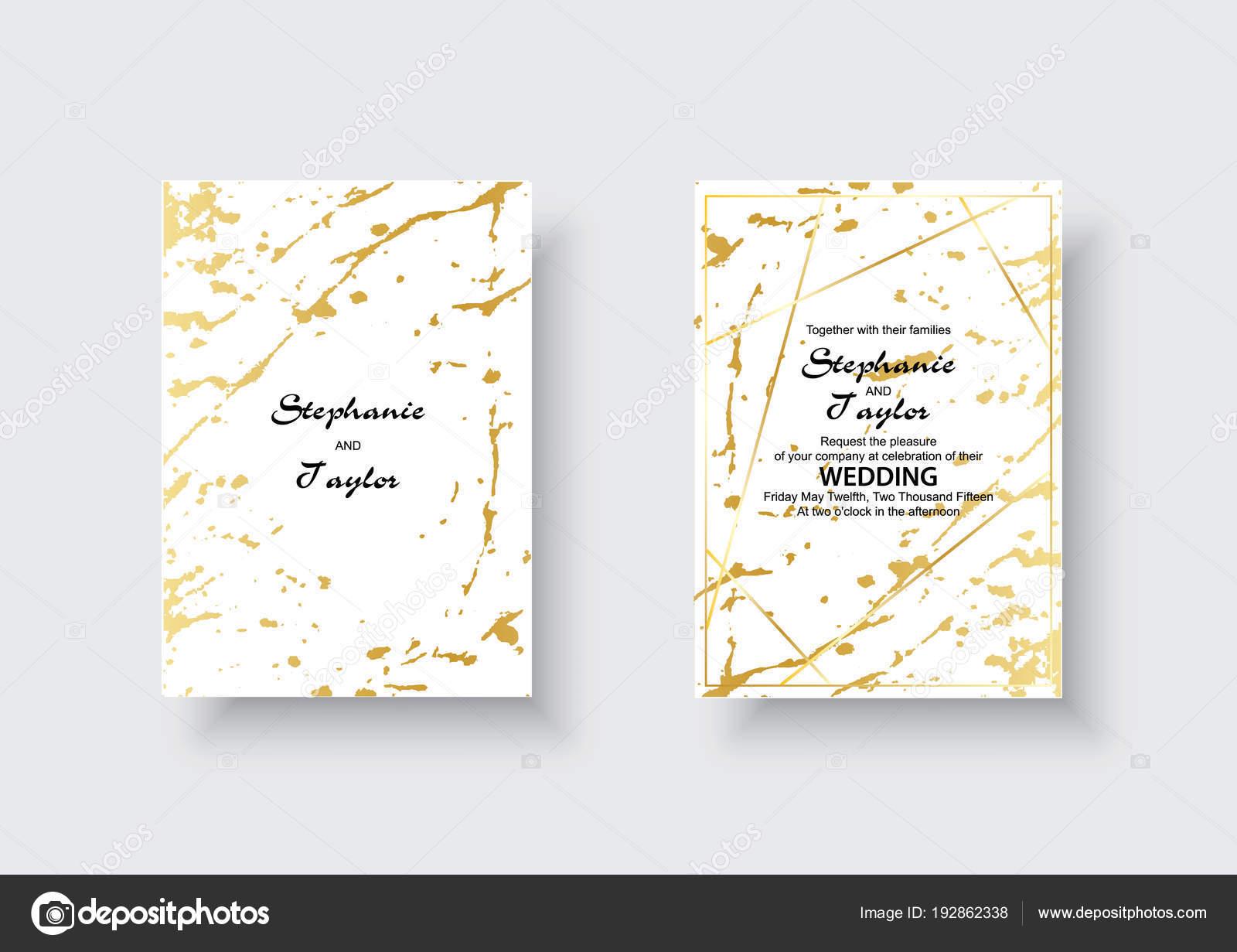 Hochzeitskarten Mit Textur Marmor Und Gold Design Fur Abdeckung