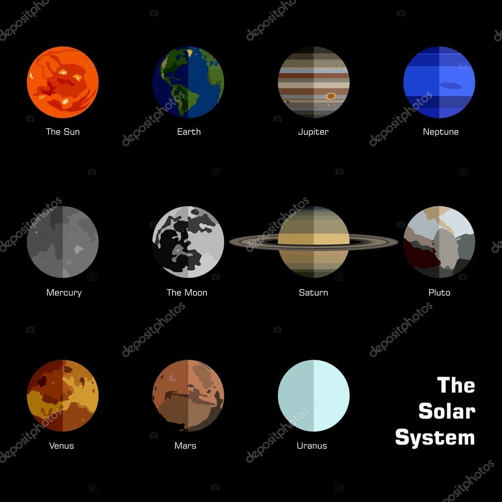 Vector solar system planets not to scale stock vector adidesign vector solar system planets not to scale stock vector ccuart Choice Image