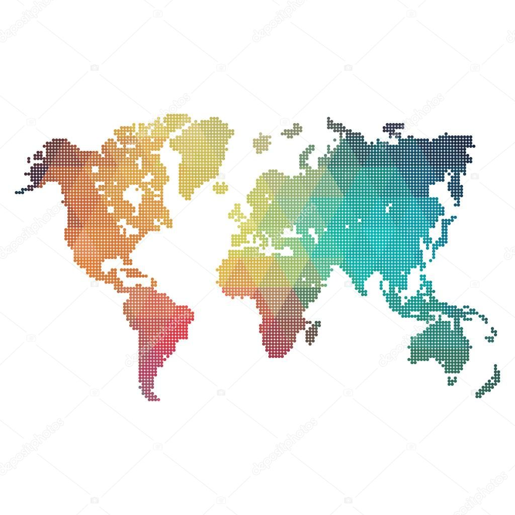 Rainbow world map made from dots stock vector adidesign 130047412 rainbow world map made from dots stock vector gumiabroncs Choice Image