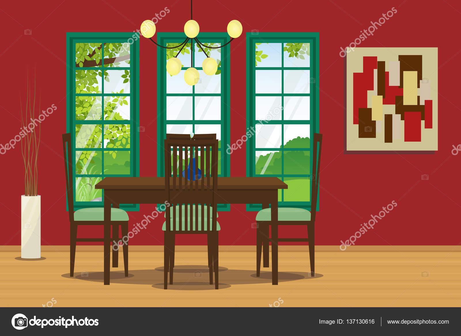 Stühle An Die Wand Hängen esszimmer interieur mit tisch stuhl hängende le und wand