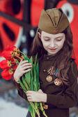 Kinder in Uniform. Soldaten, Verteidiger des Vaterlandes. Ich erinnere mich, ich bin stolz!. Militärgeschichte. Verteidiger des Vaterlandes. Militärthema. Militäruniform. Siegestag. 9. Mai.