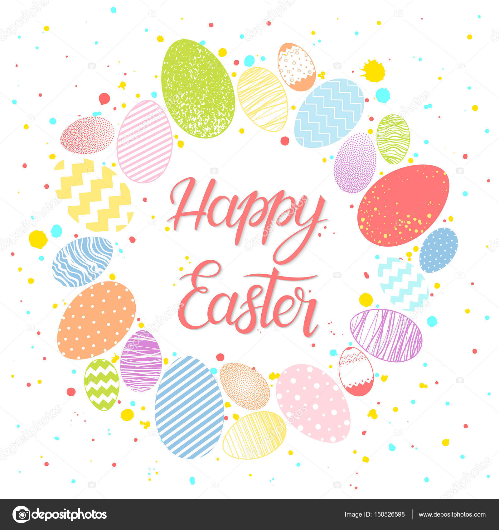 Easter Seasons Greetings Card Stock Vector Xeniaartwork 150526598