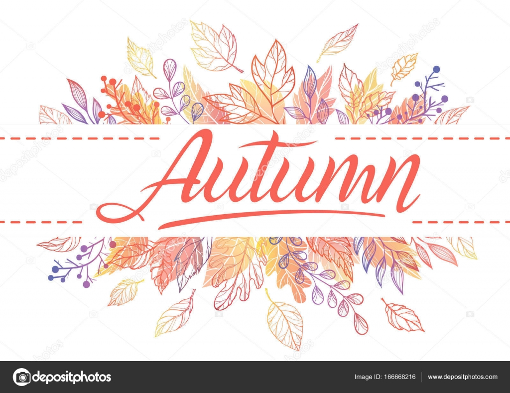 Seasons greetings card stock vector xeniaartwork 166668216 autumn cardhand drawn lettering with leaves in fall colorsasons greetings card perfect for prints flyers bannersinvitations special offer and more m4hsunfo