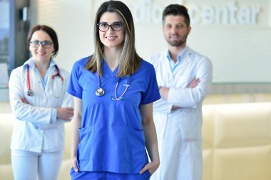 Medical workers in clinic